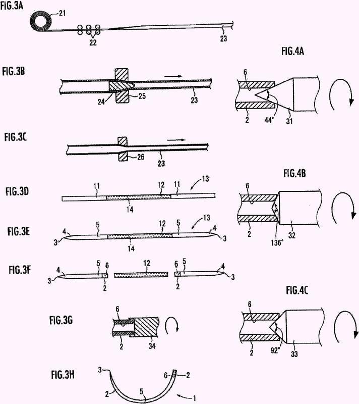 Método de fabricación de una aguja atraumática de sutura.
