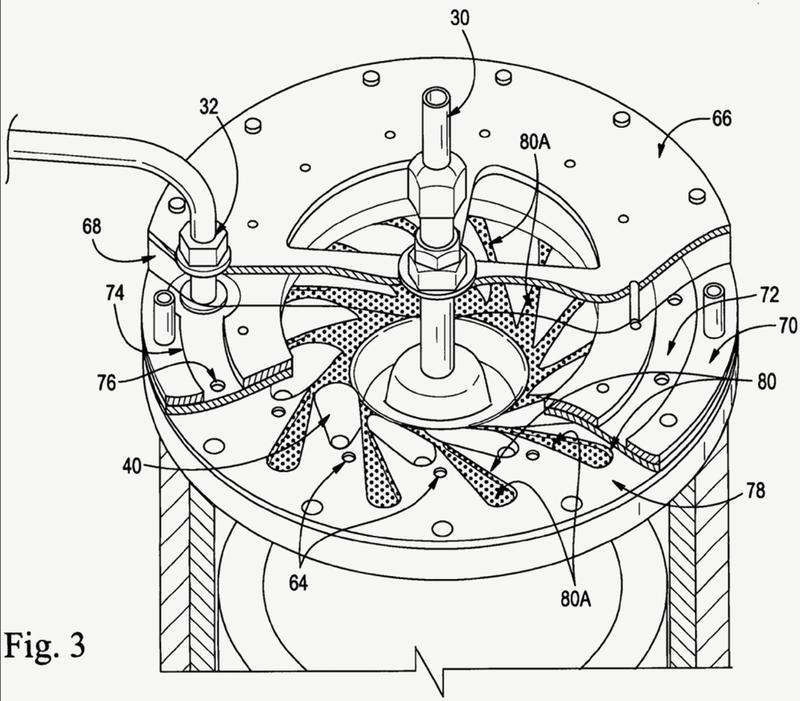 Procedimiento y sistema para comprimir gas usando un líquido.