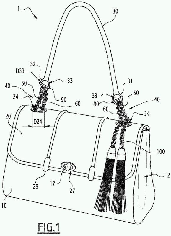 Dispositivo de fijación de una correa y de una solapa al cuerpo de un bolso de mano, bolso que comprende dicho dispositivo y procedimiento de fabricación.