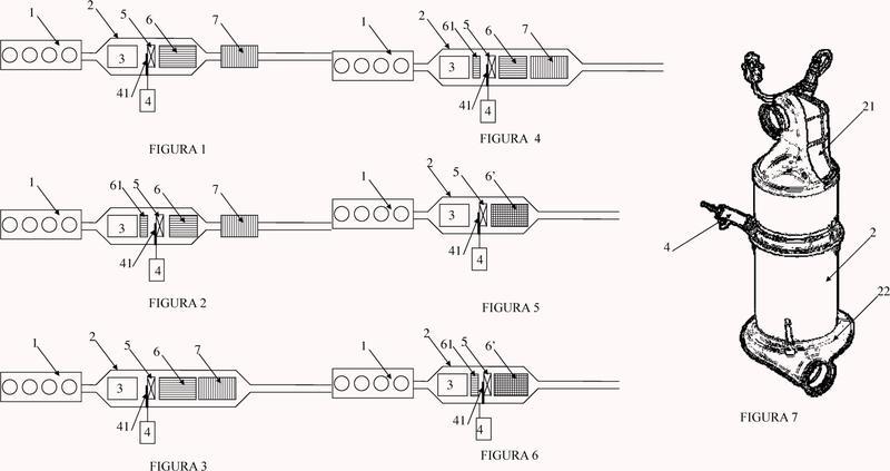 Dispositivo de postratamiento de los gases de escape de un motor de combustión interna.