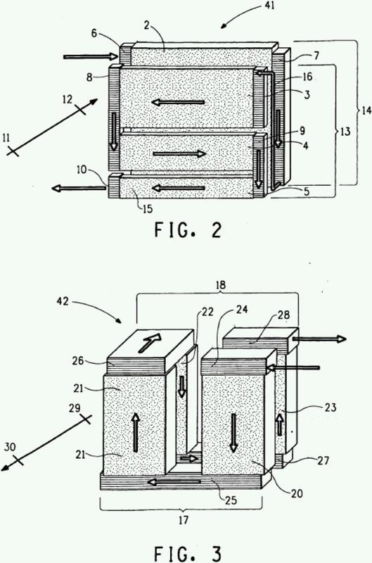 Método para el intercambio de calor en un sistema de transferencia de calor por compresión de vapor y un sistema de transferencia de calor por compresión de vapor que comprende un intercambiador de calor intermedio con un evaporador o condensador de doble fila.
