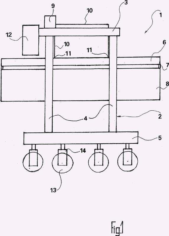 Carretilla pórtico para la utilización en terminales de contenedores y para tareas de transporte generales.