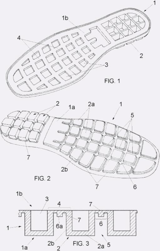 Suela moldeada para calzado con altas propiedades anti impacto.