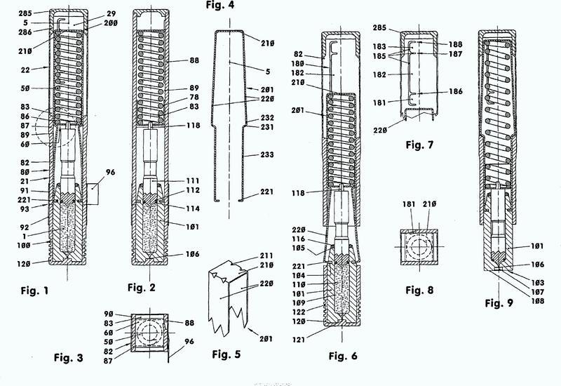 Inyector desechable sin agujas con una carcasa elástica flexible.