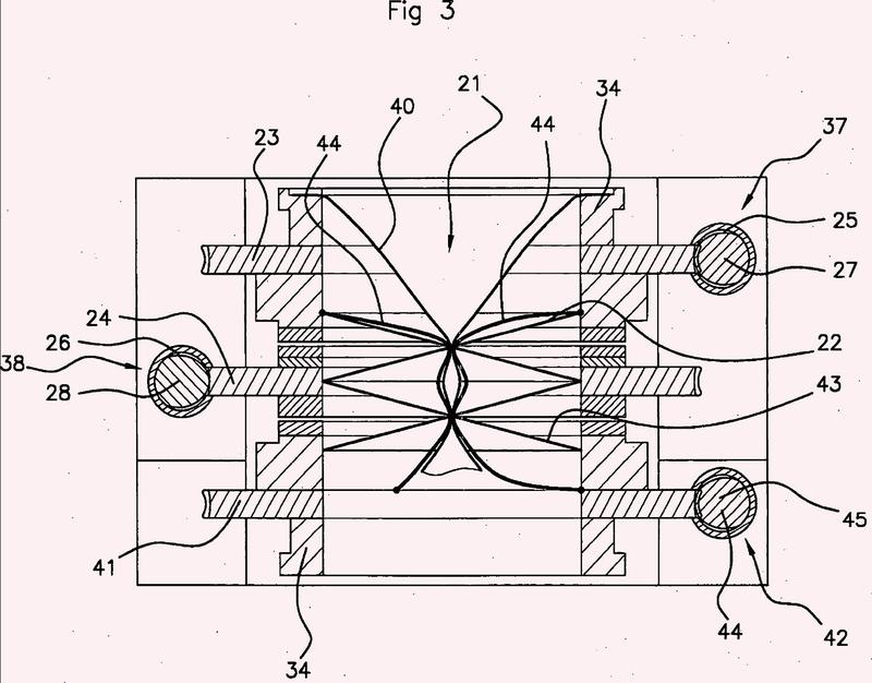 Dispositivo de control de un flujo de material granular con doble diafragma.