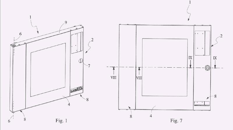 Estructura de la puerta del horno para cocinar para uso alimentario.