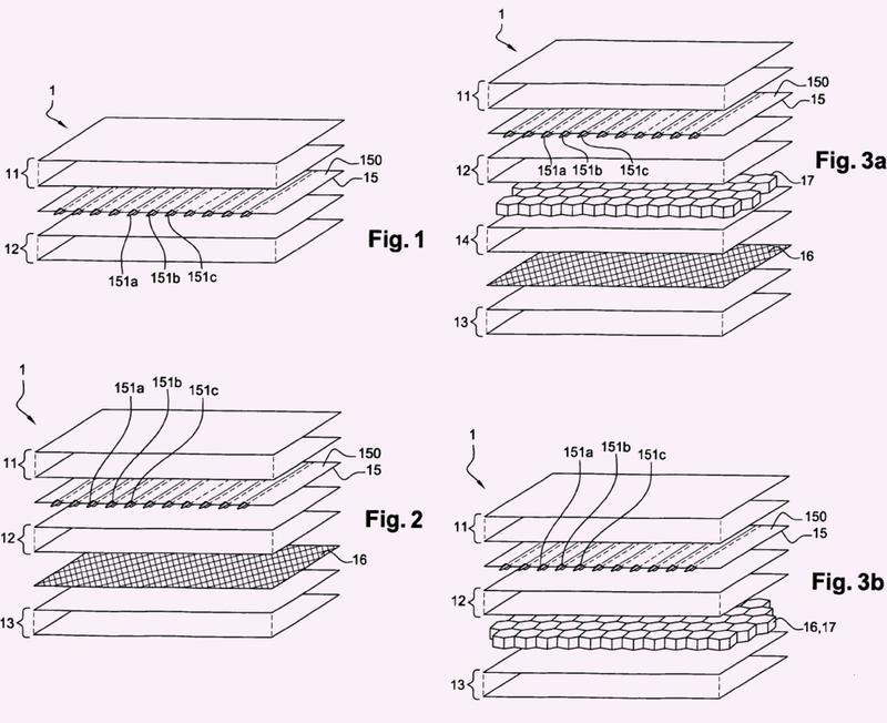 Piezas de material compuesto electro-estructural.