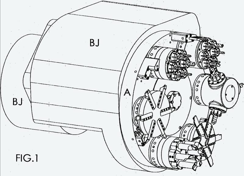 Un sistema universal de montaje de herramientas para un centro de mecanizado.