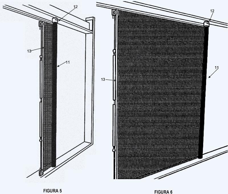 Conjunto de pantalla para una abertura de ventana o de puerta.