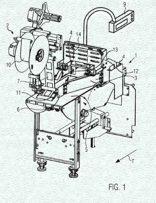 Procedimiento y dispositivo para unir líneas que comprende un dispensador de etiquetas.