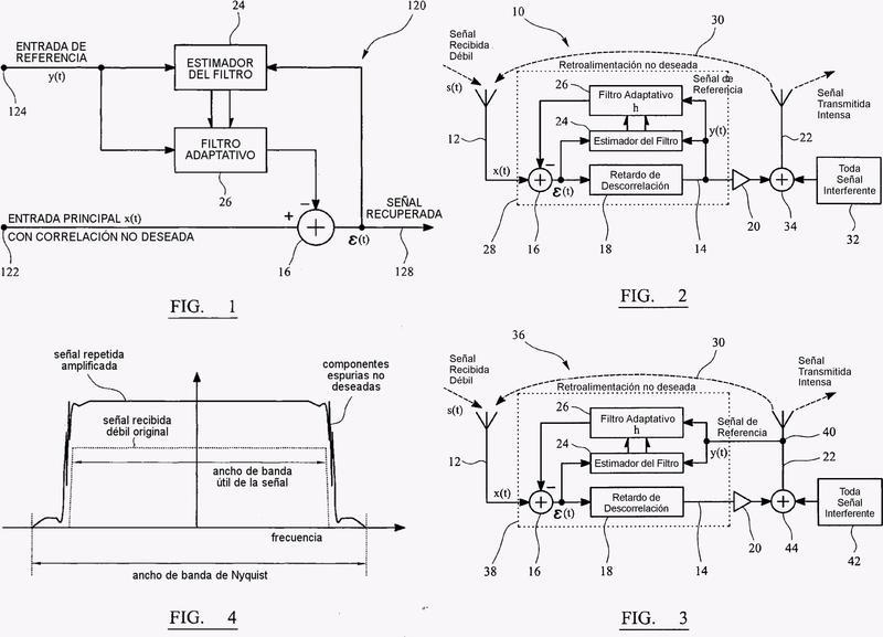 Disposición de filtro adaptativo para la recuperación mejorada de señales deseadas.