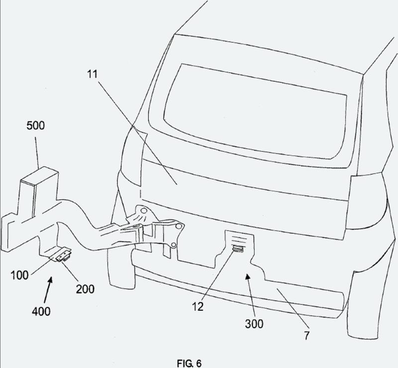Conjunto de base para soporte de bloqueo de neumático de repuesto.