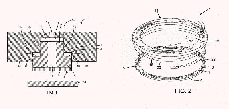Válvula giratoria que comprende una junta de obturación de cara giratoria que tiene características anti-abombamiento.