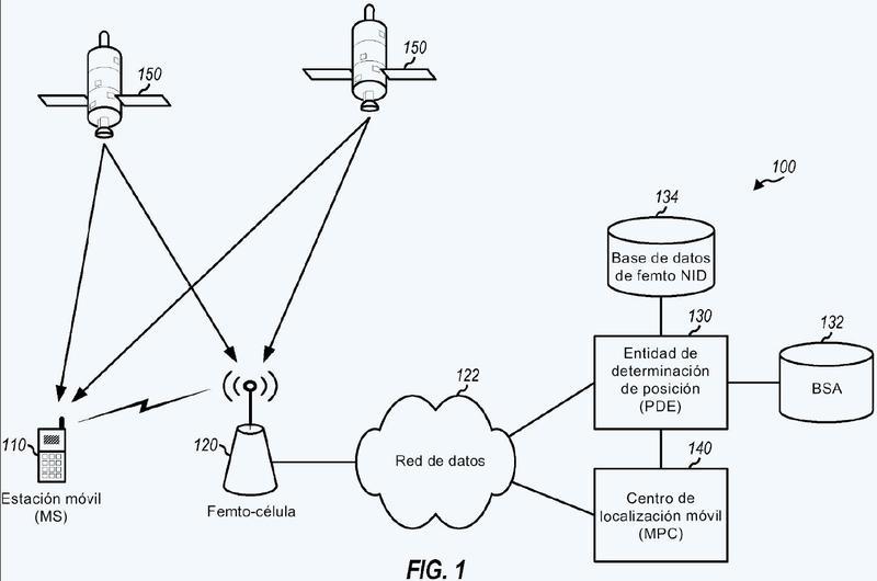Localización de un dispositivo inalámbrico que recibe servicio de una femto-célula, utilizando el identificador de femto-célula y la ubicación.