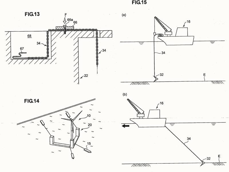 Aparato de generación de turbina eólica de tipo flotante y método de anclaje del mismo.