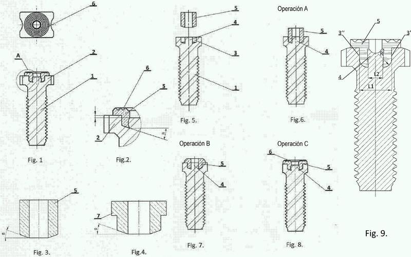 Tornillo y procedimiento de su fabricación.