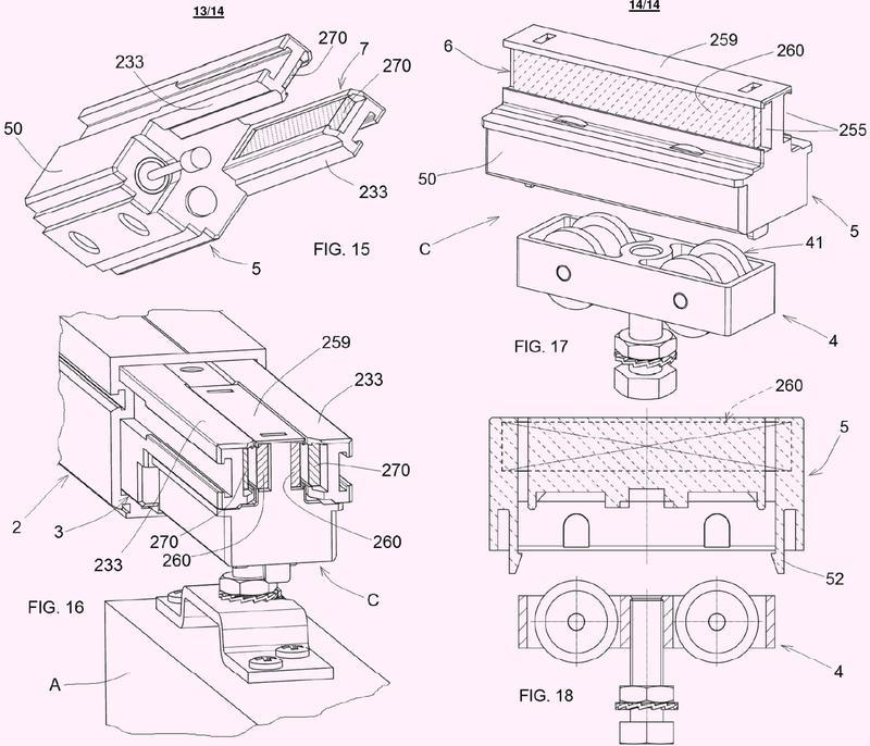 Mecanismo para el retroceso desacelerado de paneles deslizantes.