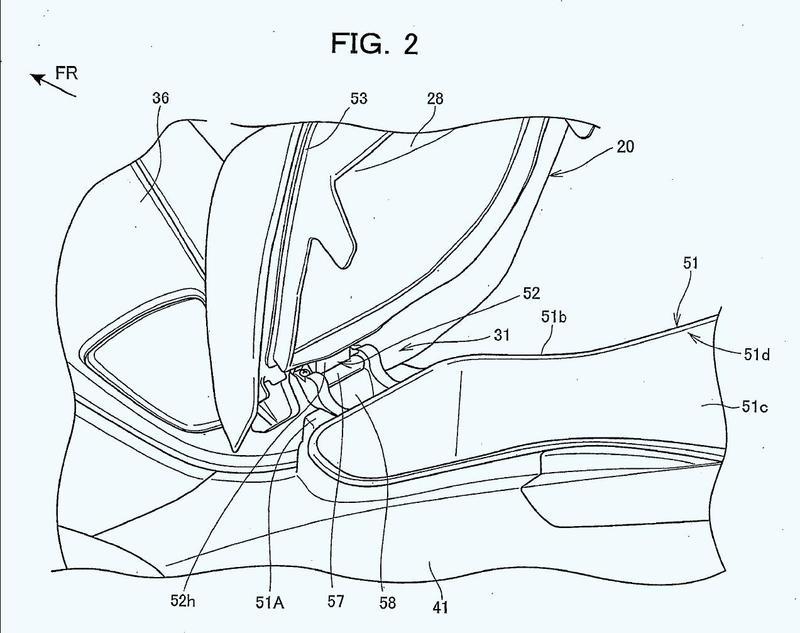 Estructura de bisagra de asiento para vehículo de montar a horcajadas.