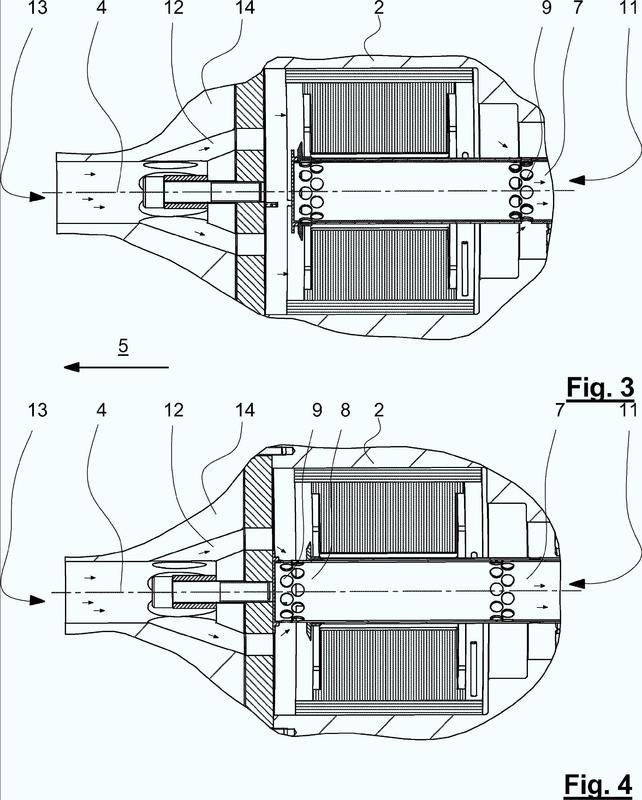 Dispositivo y procedimiento para enfriar perfiles de plástico.