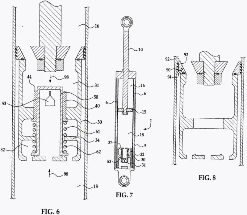 Válvula de bobina de amortiguador hidráulico.