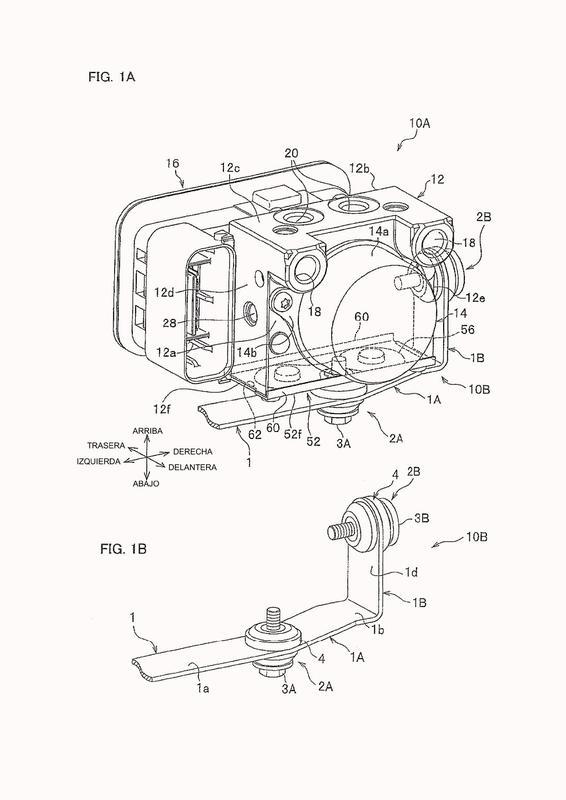 Aparato de control de presión hidráulica de freno de vehículo.