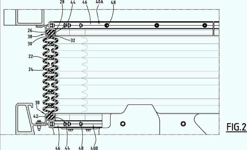 Fuelle de intercirculación entre vagones de un vehículo ferroviario.