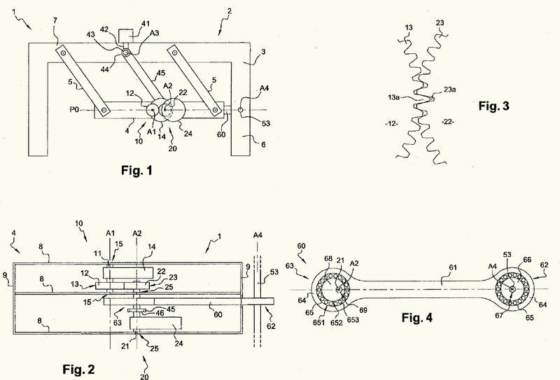Mecanismo de equilibrio para ahorro de energía, máquina rotatoria y procedimiento de implementación.