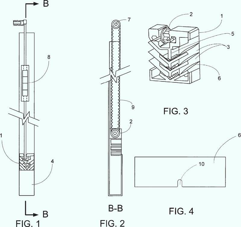 Dispositivo de tensado de correa para un persiana hueca.