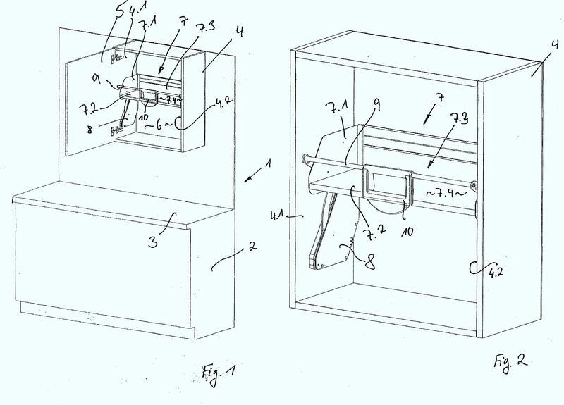 Estante giratorio para un mueble.