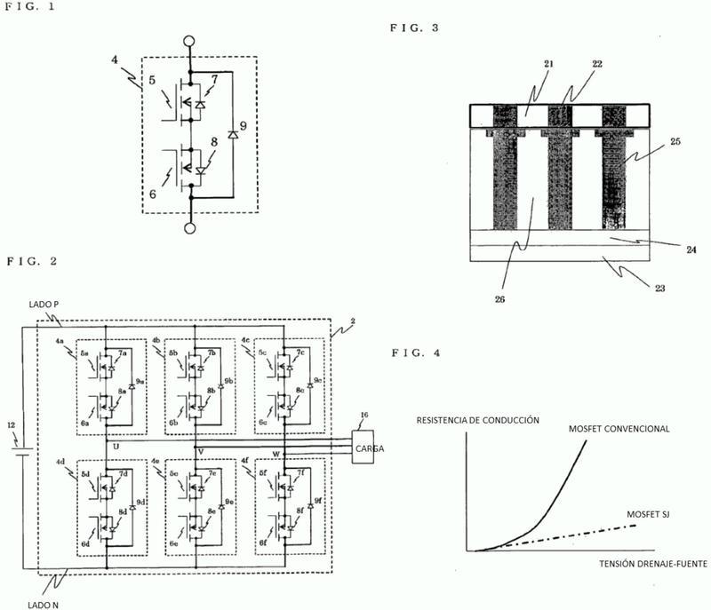 Dispositivo inversor, dispositivo de accionamiento de motor eléctrico, dispositivo de refrigeración/acondicionador de aire y sistema de generación de potencia eléctrica.
