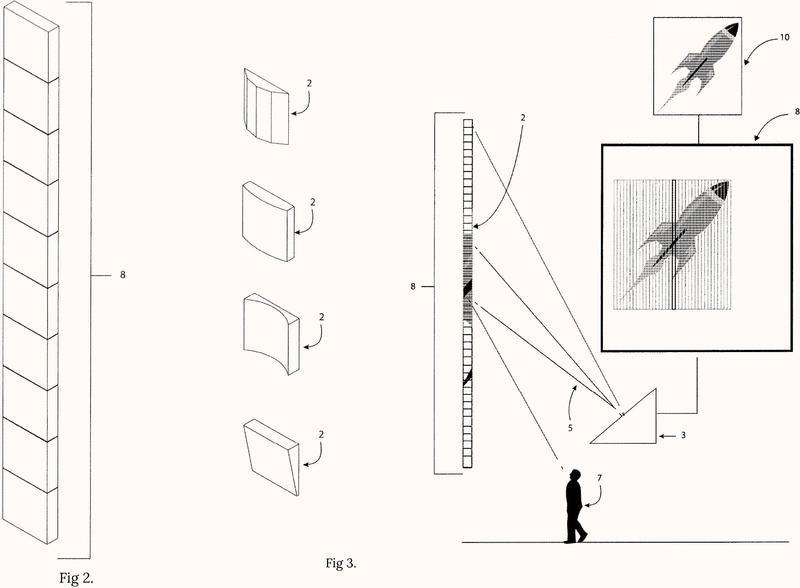 Sistema de visualización basado en la persistencia de visión con una pantalla lineal.