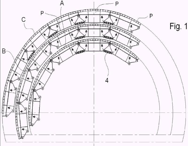 Encofrado para hormigonar el revestimiento interior de túneles.