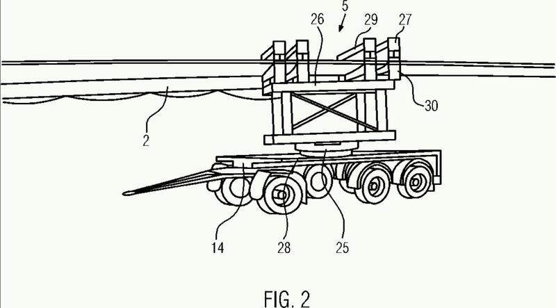 Dispositivo y método para transportar y almacenar una pala de turbina eólica.