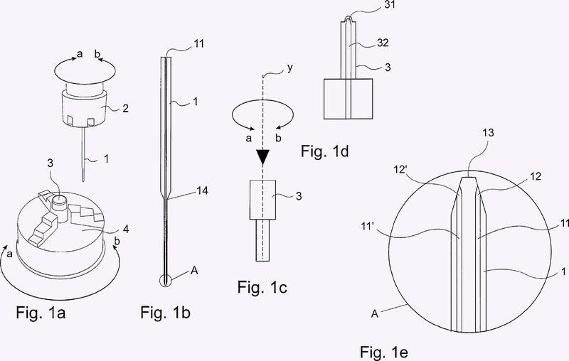 Procedimiento y dispositivo para mecanizar electroquímicamente piezas de trabajo.