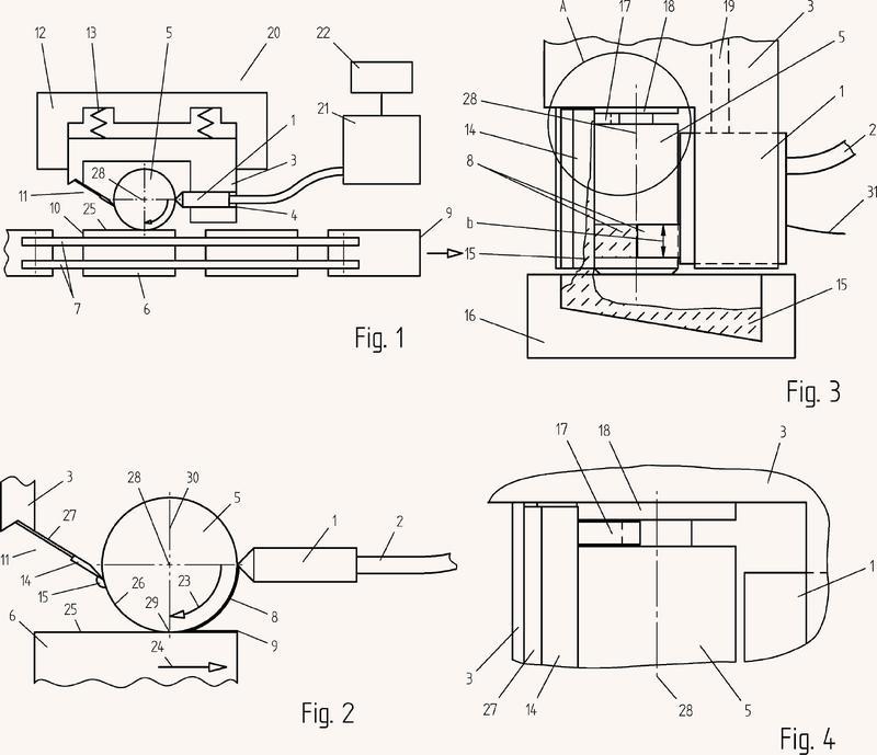 Dispositivo y procedimiento para aplicar adhesivo sobre un sustrato.