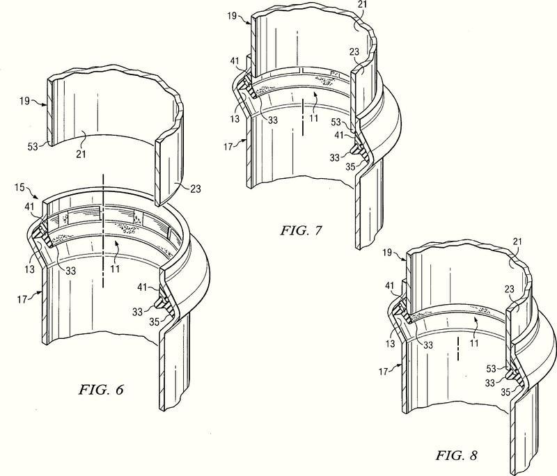 Junta de obturación de fijación a presión de hierro dúctil.