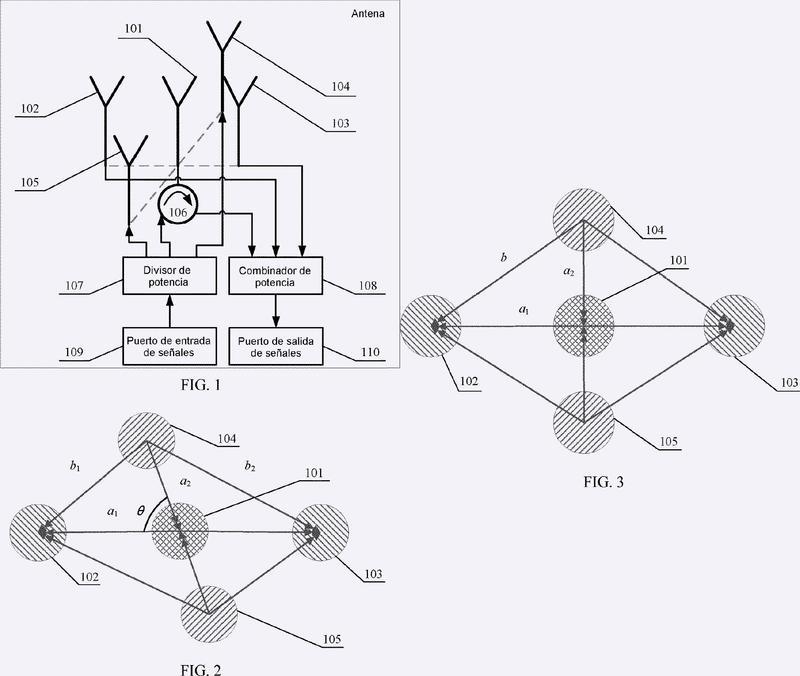 Antena y dispositivo de comunicaciones.