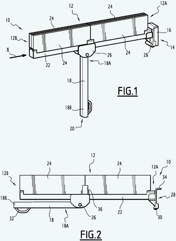 Mesa extraíble con volumen reducido, especialmente para vehículo ferroviario.