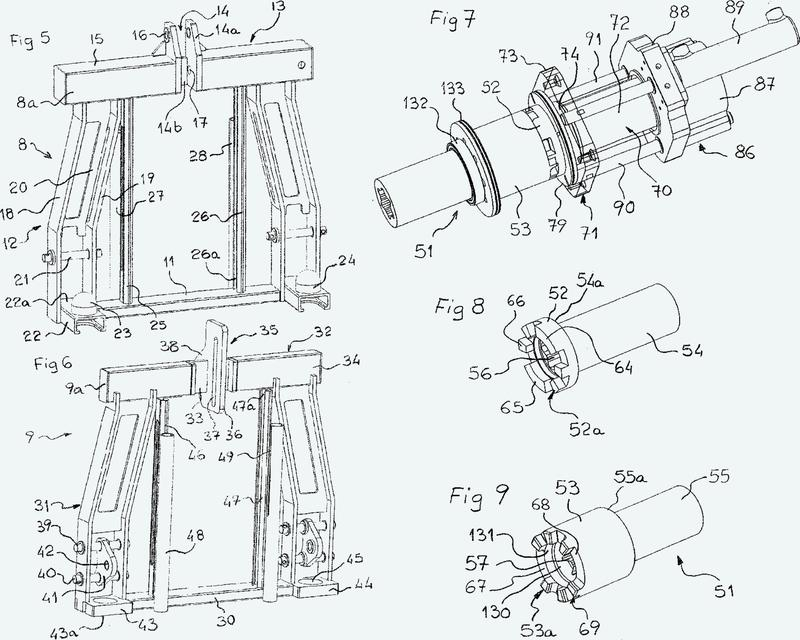 Dispositivo de enganche de un instrumento tal como un apero agrícola, en un sistema de elevación de una máquina tal como un tractor agrícola.