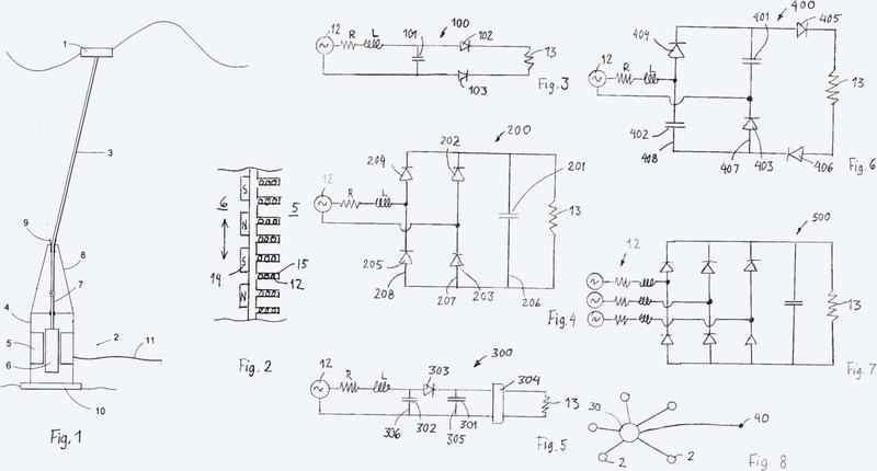 Un dispositivo eléctrico y un método para una planta de energía undimotriz.