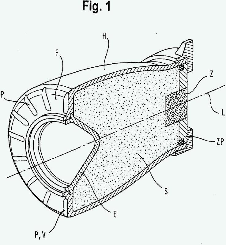 Dispositivo en una carga hueca cilíndrica.