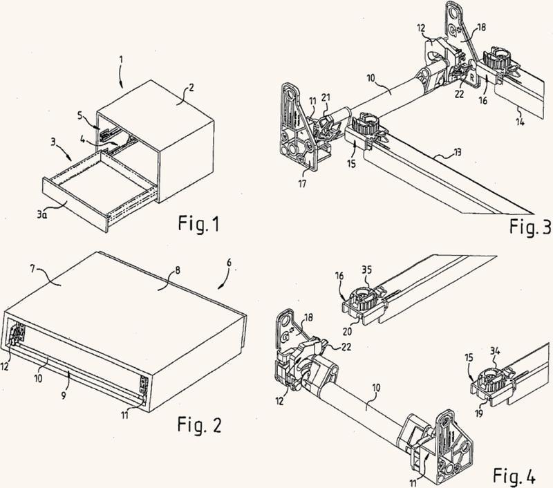 Dispositivo para cerrar una parte de mueble y mueble.