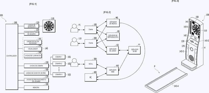 Dispositivo de juego de dardos, método de juego de dardos y medio legible por ordenador.