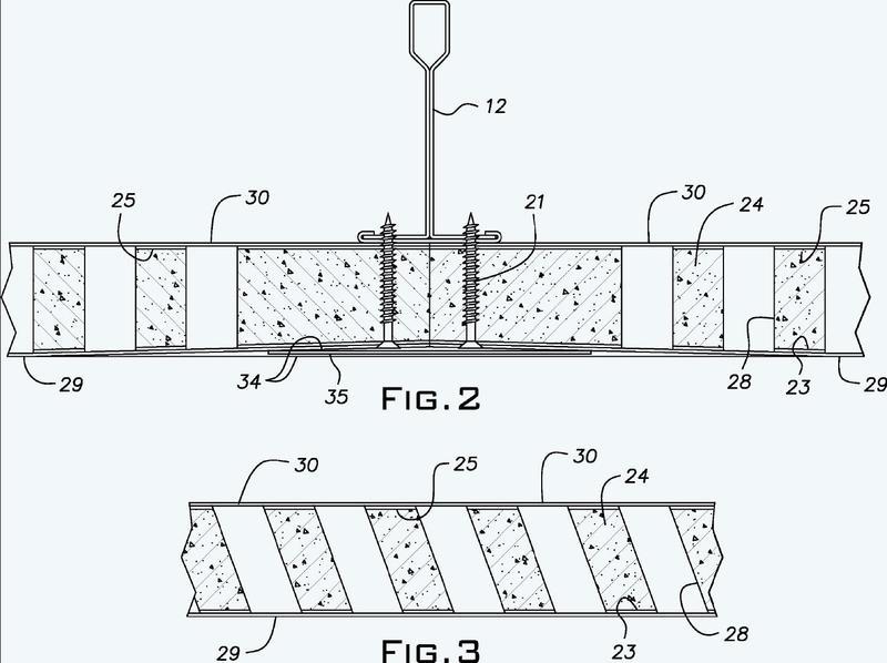 Panel de yeso para techo monolítico acústico.