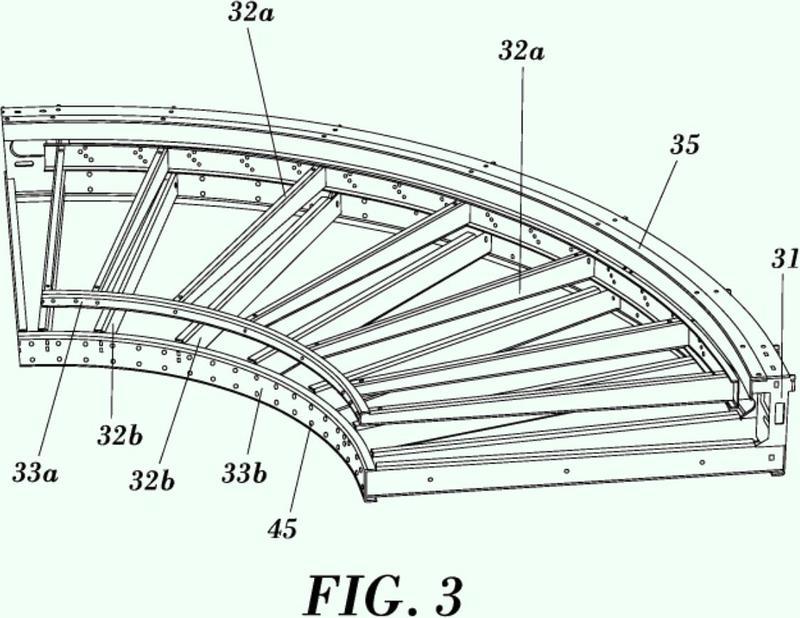 Conjunto de soporte y guiado para cintas transportadoras.
