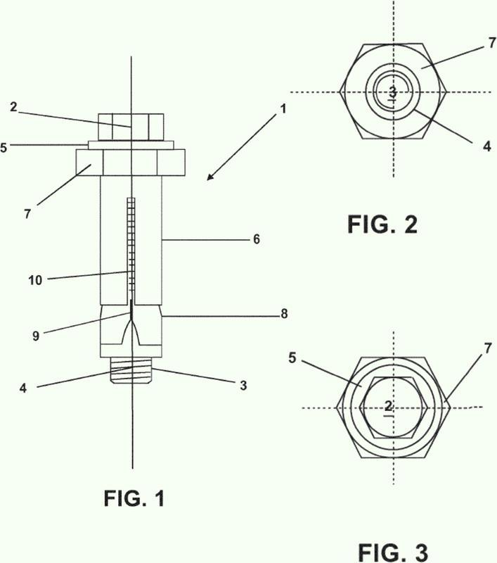 Fijador de expansión mecánica para estructuras metálicas o similares.