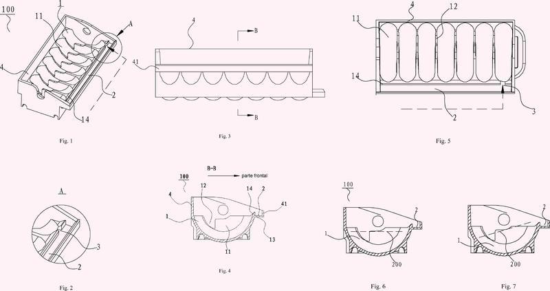 Bandeja de hielo para aparato de fabricación de hielo, aparato de fabricación de hielo y frigorífico que lo posee.