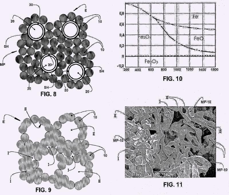 Proceso para fabricar un cuerpo poroso por pulvimetalurgia.