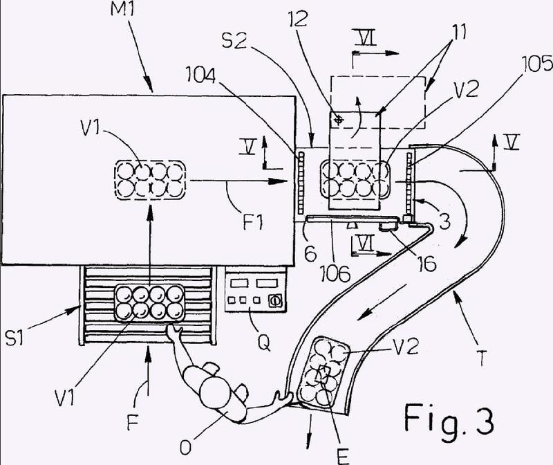 Máquina para envasar productos con película extensible.
