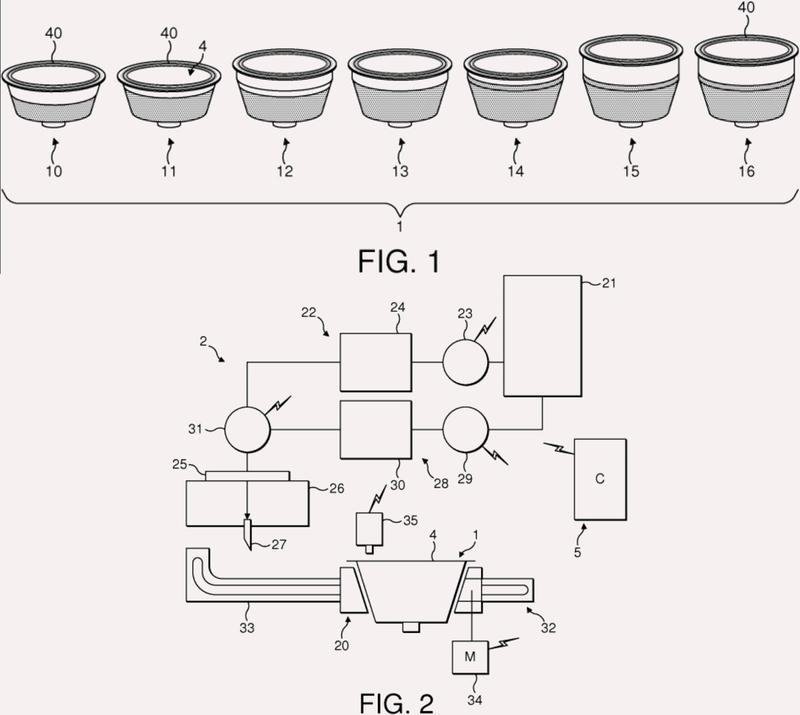 Sistema y método de nutrición de porción controlada usando cápsulas.